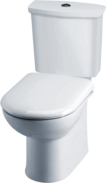 Linton Toilet With Dual Push Flush Cistern & Seat. additional image
