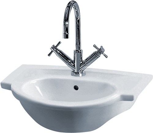 Linton Semi Recessed Basin (1 Tap Hole). additional image