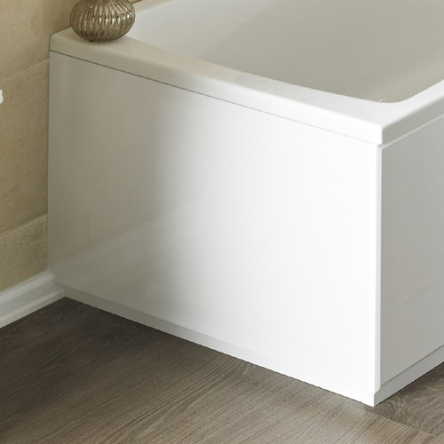 900mm End Bath Panel (White, MDF). additional image