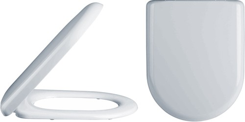 Luxury D-Shape Soft Close Toilet Seat. additional image