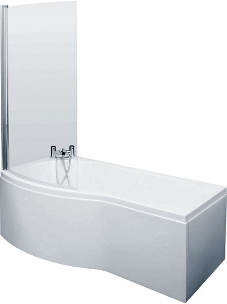 Shower Bath With Screen & Panels (1700mm, Left Handed). additional image