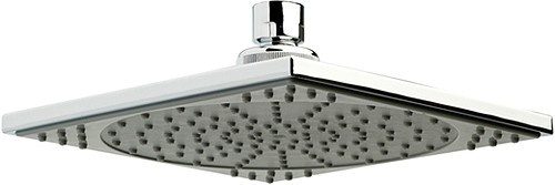 Square Shower Head With Swivel Knuckle (177mm, Chrome). additional image