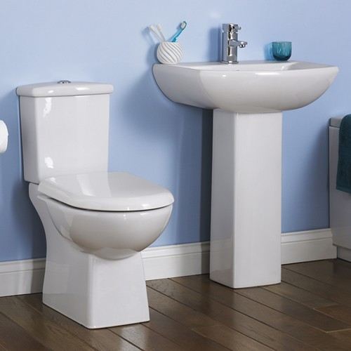 Asselby 4 Piece Bathroom Suite With Toilet & 600mm Basin. additional image