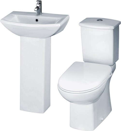 Asselby 4 Piece Bathroom Suite With Toilet & 500mm Basin. additional image