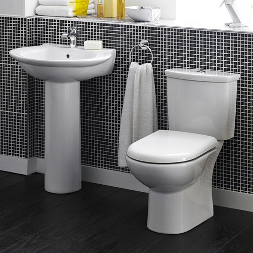 Otley 4 Piece Bathroom Suite With Toilet & 600mm Basin. additional image