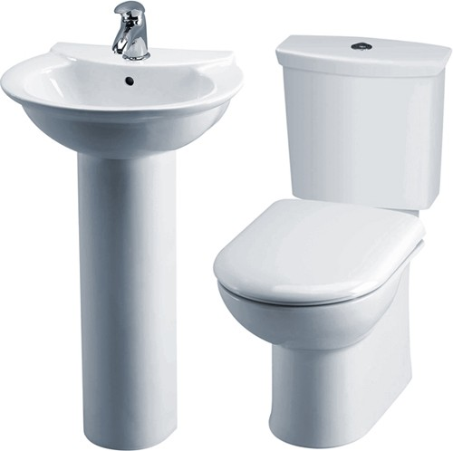 Otley 4 Piece Bathroom Suite With Toilet & 500mm Basin. additional image