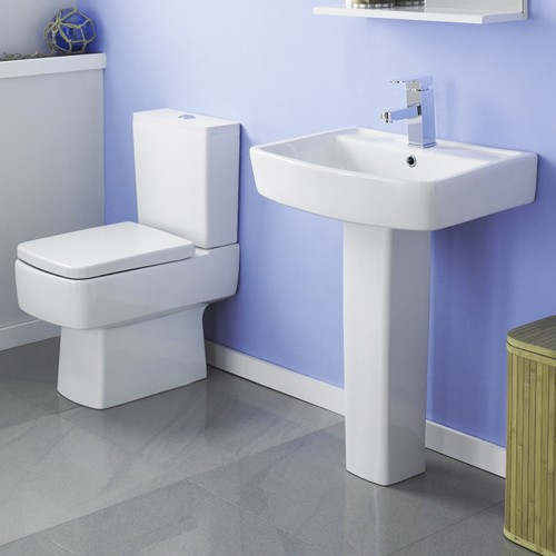 Bliss 4 Piece Bathroom Suite With Toilet & 600mm Basin. additional image