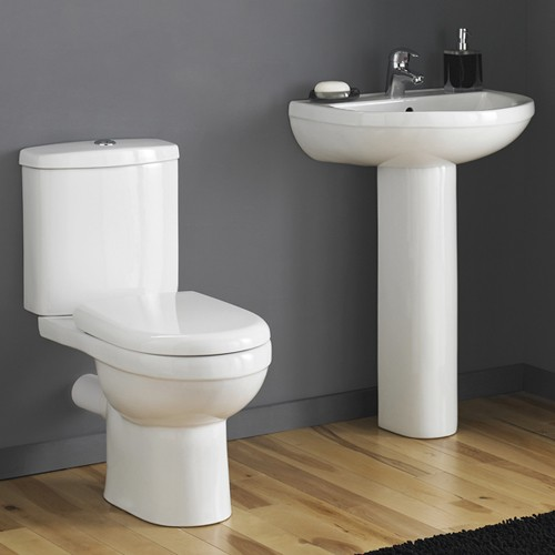 Ivo 4 Piece Bathroom Suite With 550mm Basin (1 Tap Hole). additional image