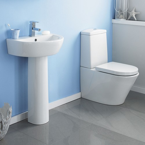 Solace 4 Piece Bathroom Suite With 550mm Basin (1 Tap Hole). additional image