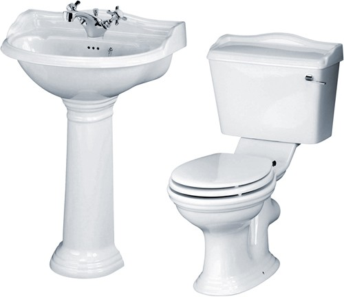 Ryther 4 Piece Bathroom Suite With 600mm Basin (1 Tap Hole). additional image