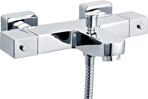 Modern Wall Mounted Thermostatic Bath Shower Mixer Tap. additional image
