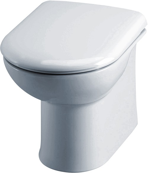 Linton Back To Wall Toilet Pan With Soft Close Seat. additional image