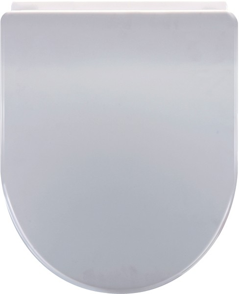 Soft Close Toilet Seat (D Shaped, White). additional image