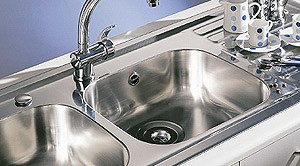 Kitchen Sink & Waste. 940x490mm (Right Hand, 2 Tap Hole). additional image