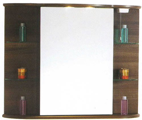 Wenge Bathroom Cabinet With Mirror Lights Shaver Socket Additional Image