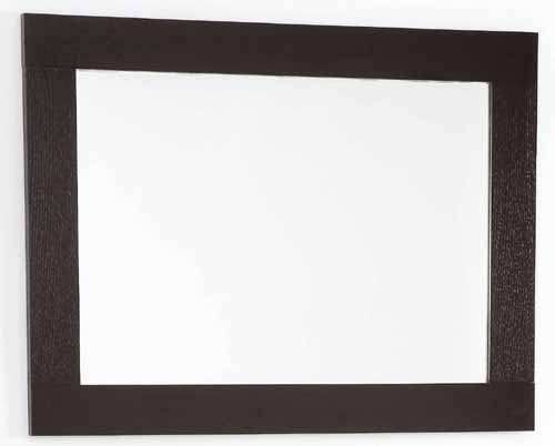 wenge bathroom mirror size 800x600mm davinci q 7080awe