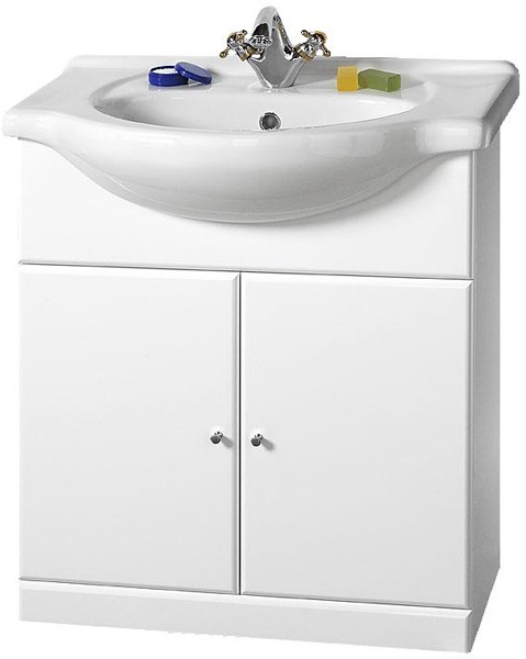 750mm Contour Vanity Unit With One Piece Ceramic Basin Davinci Q Cont700 Truerooms Com