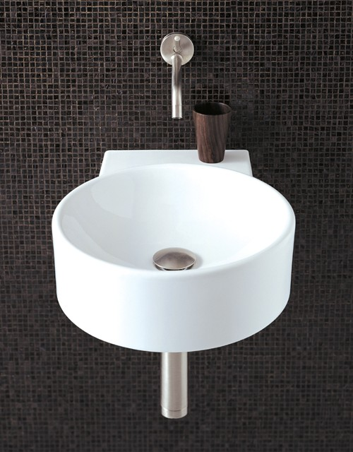 Round Wall Hung Basin : Round Wall Hung Basin With No Tap Hole. 400 x 495mm. Flame Q-FLAMEB2 ...