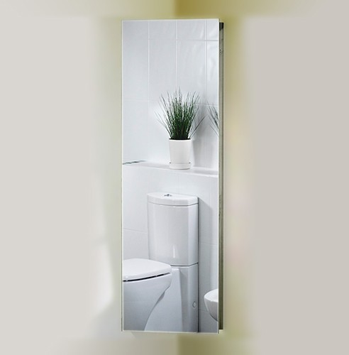 Corner Mirror Bathroom Cabinet 380x1200x200mm Additional Image
