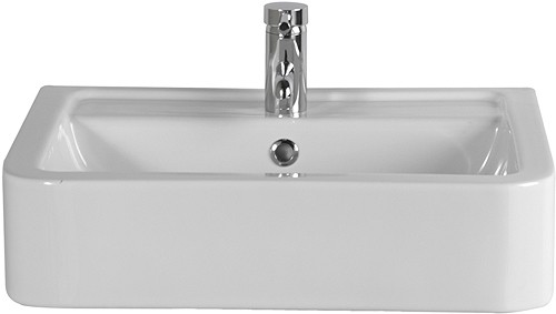 Free Standing Basin (1 Tap Hole).  Size 580x460mm. additional image