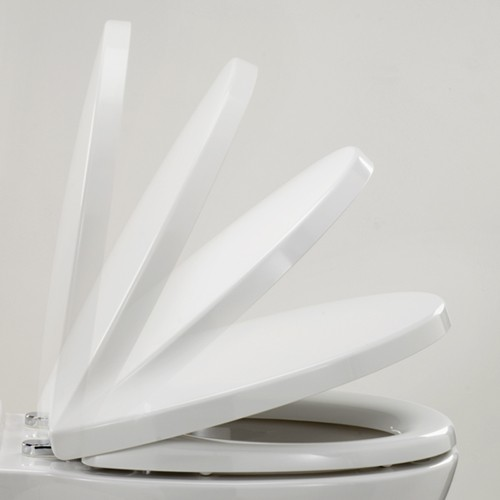 Soft Close Toilet Seat (White). additional image