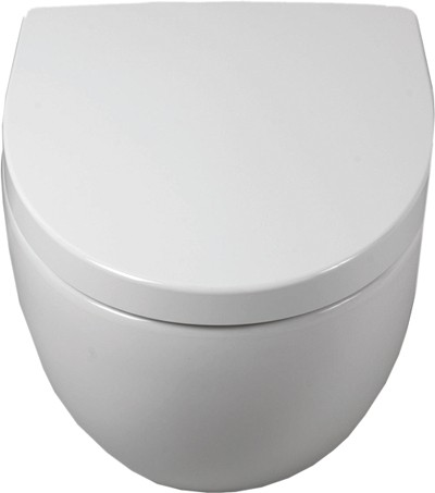 Wall Hung Toilet Pan, Soft Close Seat.  Size 385x515mm. additional image
