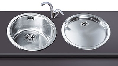 Merveilleux Round Bowl Inset Kitchen Sink And Drainer. Additional Image