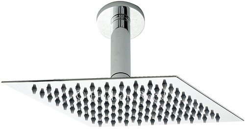 Ultra Thin Square Shower Head & Ceiling Arm. 200x200mm. additional image
