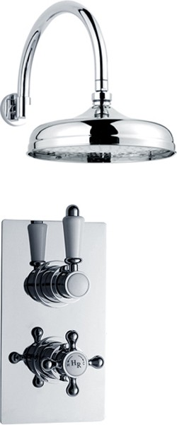 "Twin Thermostatic Shower Valve & 8"" Shower Head. additional image"