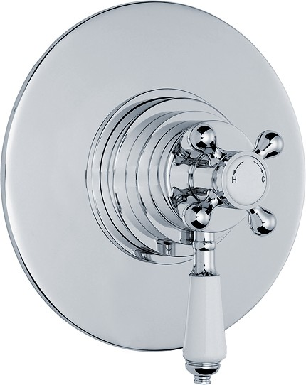 Traditional Dual Concealed Thermostatic Shower Valve. additional image