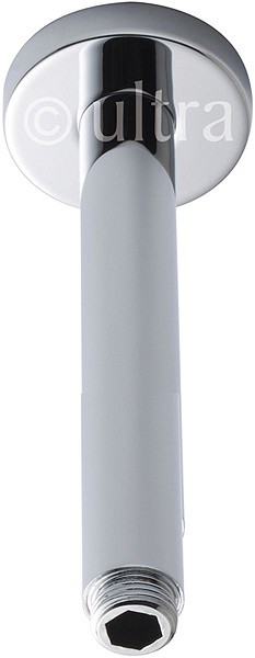 Ceiling Mounting Shower Arm (300mm, Chrome). additional image