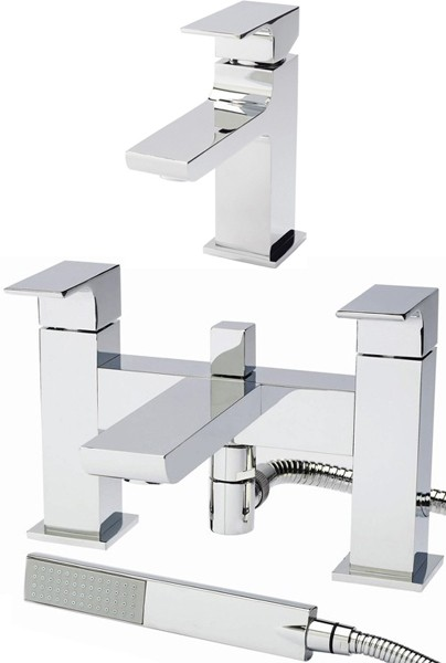 Basin Mixer & Bath Shower Mixer Tap Set (Free Shower Kit). additional image