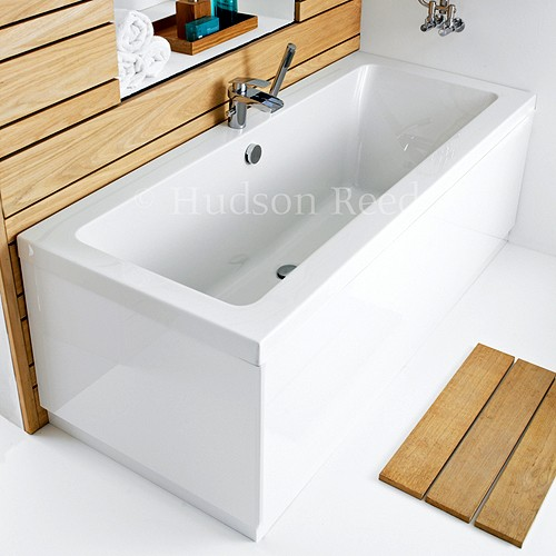 Double Ended Acrylic Bath & White Panels. 1600x700mm additional image