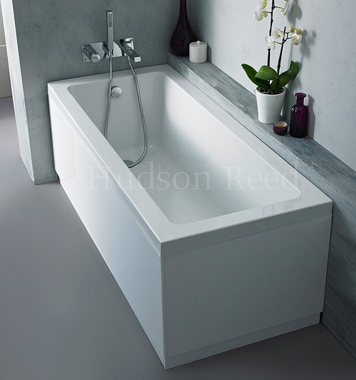 Single Ended Acrylic Bath & White Panels. 1600x700mm additional image