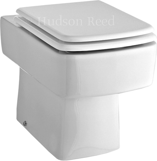 Square Back To Wall Toilet Pan With Seat & Cistern. additional image