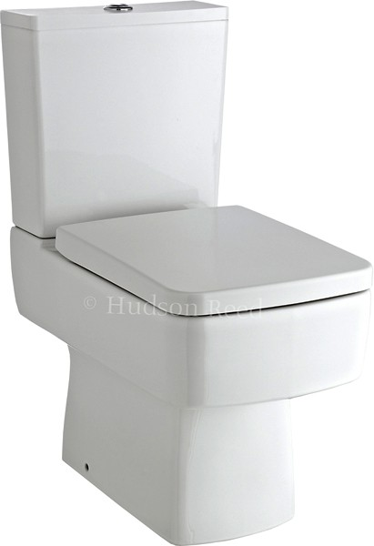 Square Toilet With Dual Push Flush & Top Fix Seat. additional image