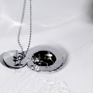 Brass basin waste with ball chain (Chrome) additional image