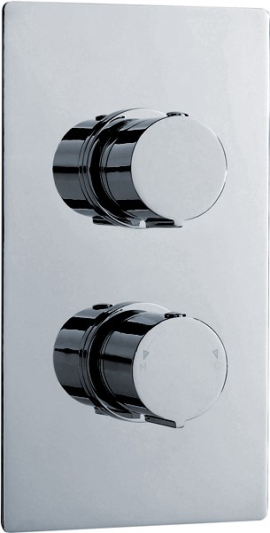 "3/4"" Twin Concealed Thermostatic Shower Valve With Diverter. additional image"