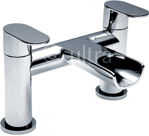 Waterfall Bath Filler Tap (Chrome). additional image