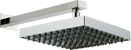 Helix Square Shower Head & Wall Mounting Arm. 250x250mm. additional image