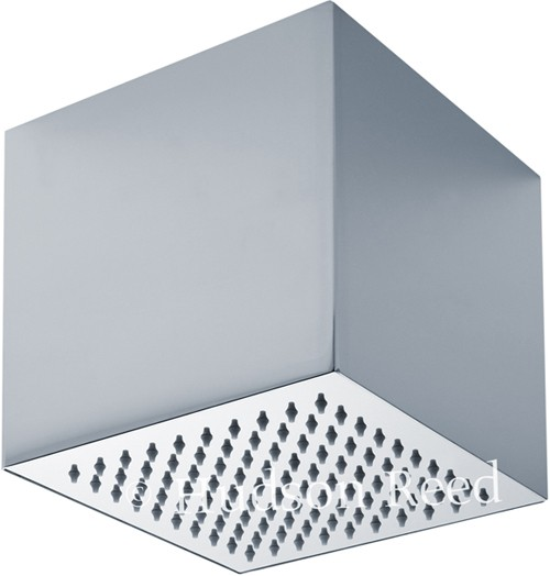 Square Shower Head (Stainless Steel). 200x200x200mm. additional image