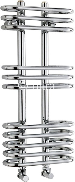 Sway Cloakroom Heated Towel Rail (Chrome). 300x650mm additional image