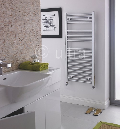 Straight Heated Towel Rail (Chrome). 500x1100mm. 1177 BTU. additional image