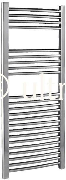 Curved Heated Towel Rail (Chrome). 500x1100mm. 1222 BTU. additional image