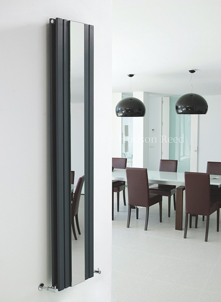 Sloane Mirror Radiator (Anthracite). 381x1800mm. additional image