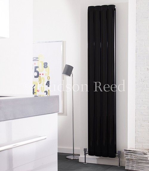 Nirvana Designer Radiator (Black). 335x1800mm. additional image
