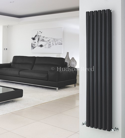 Revive Radiator (Black). 354x1800mm. 5786 BTU. additional image