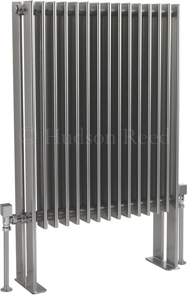 Fin Floor Mounted Radiator (Silver). 570x900mm. additional image
