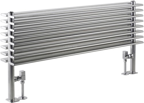 Fin Floor Mounted Radiator (Silver). 1000x504mm. additional image