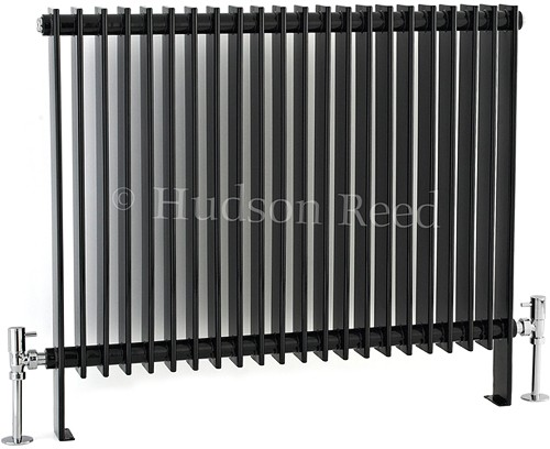 Province Floor Mounted Radiator (Black). 880x690. additional image